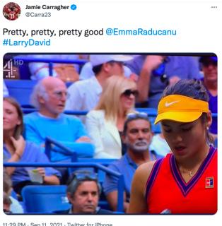Social Media Loves Larry David Being At US Open